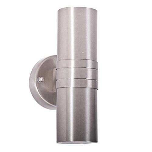 Brilliant G96230/82 Applique exterieure LED a 2 lumières HANNI, 3W GU10, IP23, Acier Special, Coloris, 2.5 W