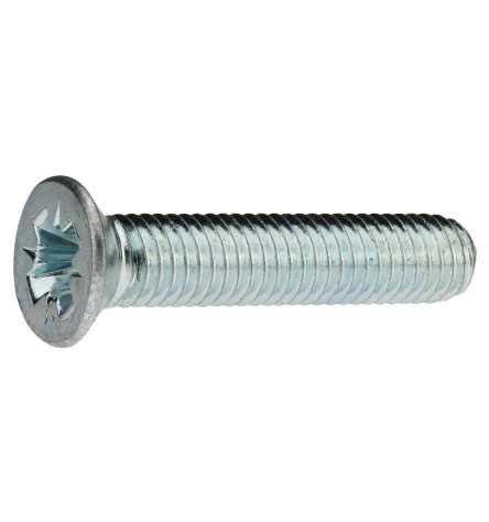 Reidl Gewindefurchende Schrauben 6 x 16 mm DIN 7500 Stahl galv. verzinkt farblos 100 Stück