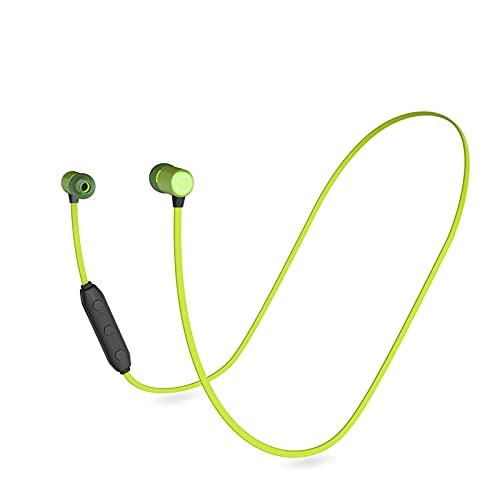 Auriculares Bluetooth montados en el cuello Auriculares magnéticos biaurales inalámbricos montados en el cuello Auriculares deportivos intrauditivos para el cuello Adecuados para cafeterías(Color:g