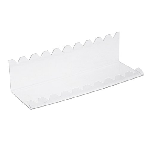 Pen Display Holder Clear Stand Rack Shelf for Makeup Brushes, Nail Brushes, Vape Pens, Spoons, Pencils 10 Slots