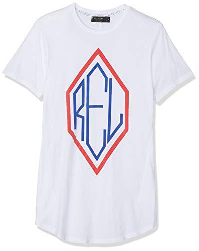 Religion Primary tee Camiseta, Blanco (White 013), Small para Hombre