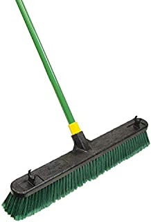 Quickie Bulldozer Push Broom, Green