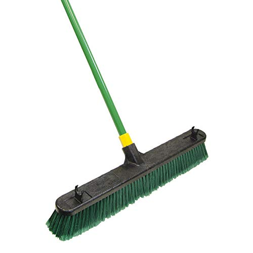 Quickie Bulldozer Push Broom, Green