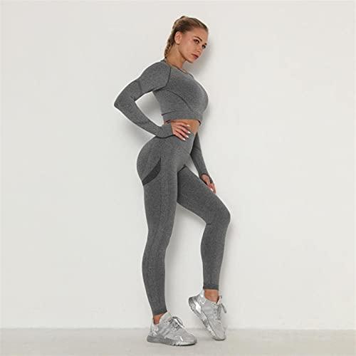 Shability Top Gimnasio Conjunto Sin Fisuras Yoga Ejercicio Conjunto Fintess Ropa Empuje Leggings Deporte Desgaste Mujeres Trajes De Mujer yangain (Color : Yoga Set 9, Size : L)