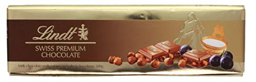 Lindt - Swiss Premium Milk Chocolate Raisin Hazelnut Schokolade Traube Nuss Tafelschokolade Milchschokolade - 300g
