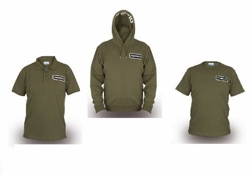 SHIMANO Clothing Pack Bundle Gr. M Olive Hoody + Polo Shirt + T-Shirt