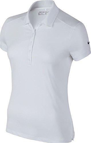 Nike W Nk Dry SS Polo, Mujer, Blanco (White), Medium (Tamaño del Fabricante:M)