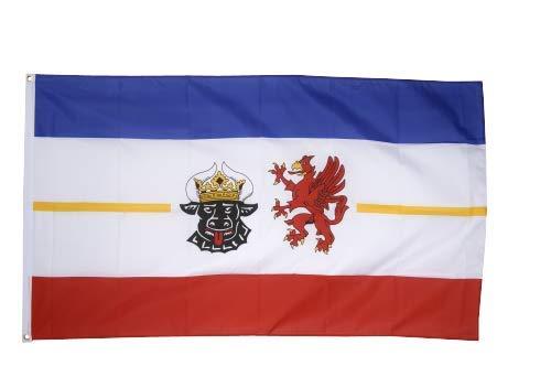 Flaggenfritze® Fahne Flagge Mecklenburg-Vorpommern 90 x 150 cm Premiumqualität