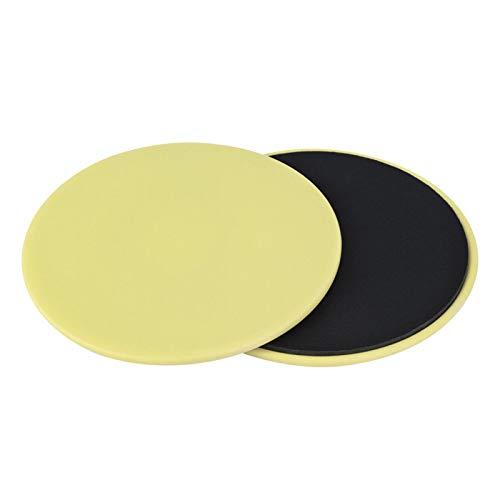 BOLORAMO Diapositivas del Disco de la Aptitud, Entrenamiento de la Base de los Discos deslizantes del Ejercicio Ligero para el Equipo casero de la Aptitud(Yellow)