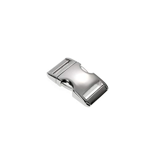Ganzoo Alumaxx Lot de 8 fermoirs à cliquet, Fermoir à Clip, pour Bracelets en paracorde, Collier pour Chien, Sac à Dos, Surface Brillante nickelée Argenté
