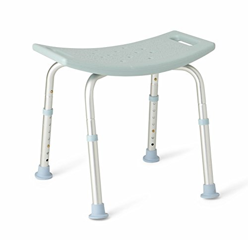 Medline Bath Bench Without Back, Microban