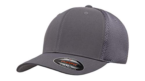 "Flexfit Ultrafibre & Airmesh 6533 with NoSweat Hat Liner (S/M (6 3/4"" - 7 1/4""), Dark Grey)"