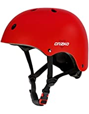 CRZKO barns cykelhjälm, flera sportsäkra småhjälmar, stötskyddade, cykling skateboarding, justerbar från småbarn till ungdomar, har tre storlekar