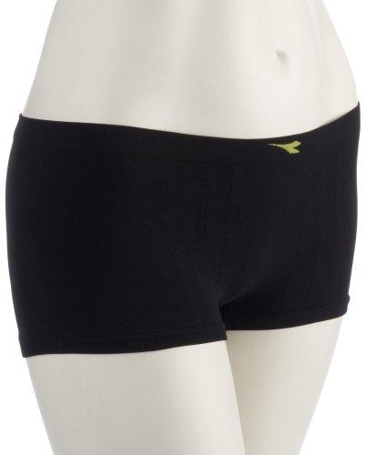 Diadora 13391 Hidden Power - Pantaloncini Funzionali da Donna, Colore: Nero, S/M