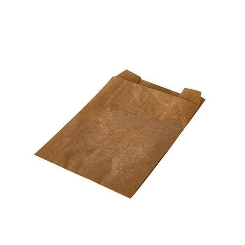 1000 Papiertüten Wrap Tüten Braun Kraftpapier 11x8x4cm fettdicht Butterbrottüte Beutel Lunch Pausenbrot Sandwichtüte