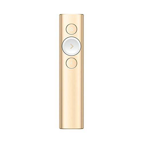 Logitech Spotlight Presenter, Bluetooth und 2,4 GHz Verbindung via USB-Empfänger, Digitaler Laserpointer, 30 m Reichweite, Timer, Vibrationsalarm, PC/Mac/Android/iOS - Slate/grau, Englische Verpackung