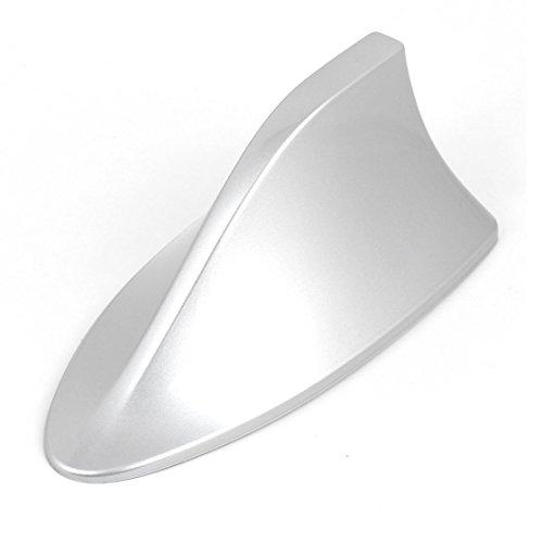 sourcingmap voiture Argent¨¦ aileron Requin en plastique Design Base adh¨¦sive Antenne 16?cm