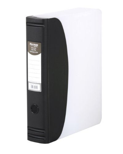 Hermes 836001 robuste Aktensammelbox Folio-Format 2-Ring-Mechanismus 80 mm Rücken 50 mm Kapazität