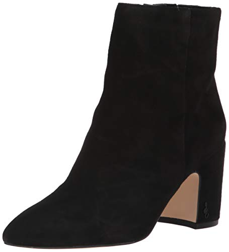 Sam Edelman Women's Hilty Ankle Boot, Black Suede, 8.5 Medium US