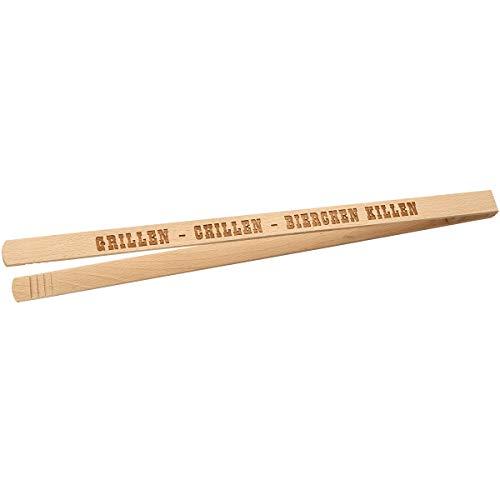 Spruchreif PREMIUM QUALITÄT 100{210f6f67a6d93aa70d11c83ca4b10540ba8fb14cbe87f256317589eb96b3b2c7} EMOTIONAL · Grillzange aus Holz mit Spruch · ideales Männergeschenk · Grillwerkzeug für Männer · Geschenke für Männer (Grillen - Chillen - Bierchen Killen)