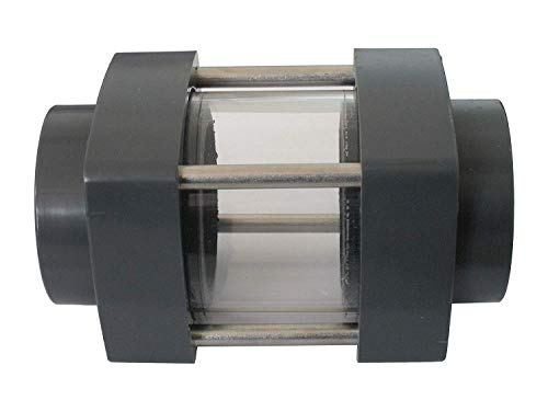 well2wellness® PVC Schauglas Sichtglas mit 2 x Klebeanschluss 50mm - transparent (200225)