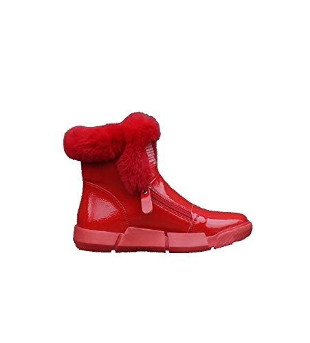 Beautyline Moda Nuova Stagione di Livello Polso Low Heels Italiano Pelle Artificiale Inverno Stivali da Donna