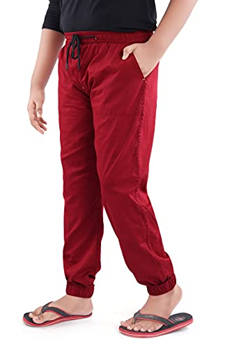 UNOseven Boys Cotton Tapered fit Jogger Fashion Pants Pack of 2 (04/05)