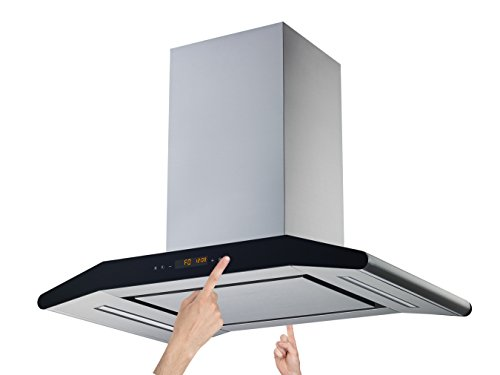 Winflo Elite 36 In. 700 CFM Convertible Stainless Steel Island Range Hood with Mesh Filter and Stainless Steel Panel, Dual Sided Touch Sensor Control