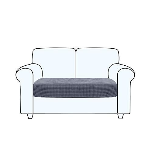 TAOCOCO Fundas de cojín para sofá,Protector de cojín de Asiento de Tela de poliéster de Alta Elasticidad (Gris Oscuro, 2 Asientos)