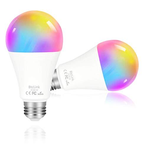 Smart LED Light Bulb, Dimmable WiFi Smart Bulb with Warm Lights - No Hub Required, Christmas Smart Bulb Works with Alexa Echo Dot, Google Home Mini & Samsung, KHSUIN LED Smart Light Bulbs 7W (80W)