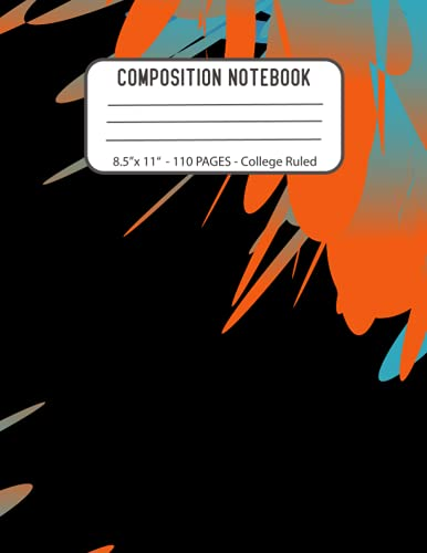 AESTHETIC COMPOSITION NOTEBOOK: COLLEGE RULED · Aesthetic Composition Notebook for School 8.5 x 11 inch with 110 Pages Pattern Cover