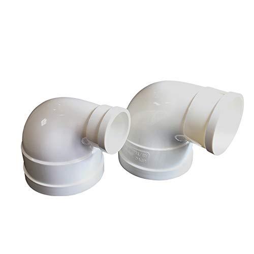 Codo de tubería de 90 grados curva de codo de 110 a 50 mm de drenaje de desagüe, conector de tubería de alta calidad, ABS, duradero, solo 1 unidad