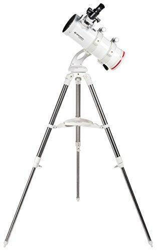 Bresser NT-114/500 NANO Telescopische messen, compacte en hoogwaardige azimutale spiegeltelescoop met brede optiek, met roestvrij stalen driepootstatief, inclusief talloze accessoires
