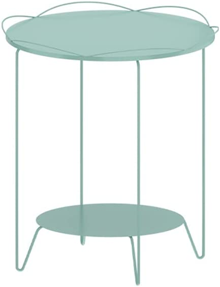 PIAOLING Outdoor Same day shipping Portable Folding Coffee Rust- Metal Table Max 48% OFF