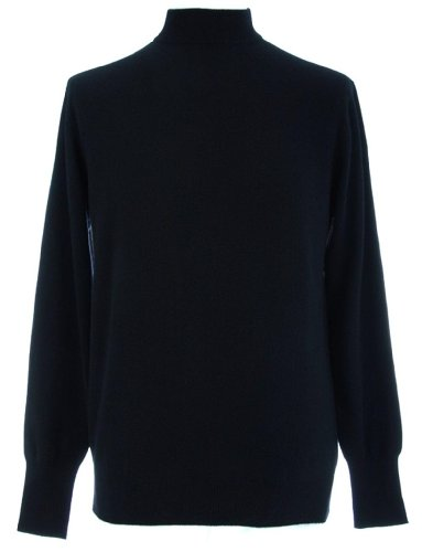 Shephe Men's Mock Turtleneck Cashmere Sweater Black Extra Large