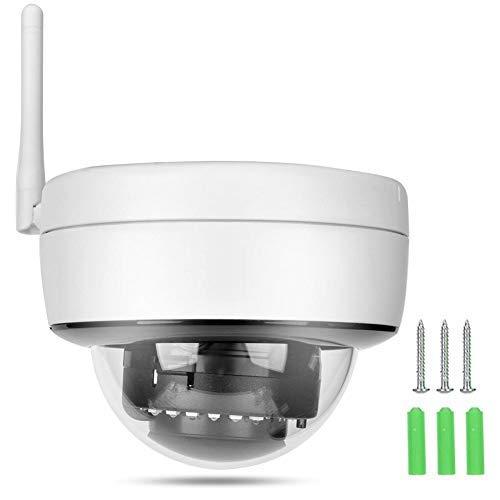 Tangxi Cámara Domo WiFi 1080P, 2MP 1980 x 1080 Cámara de Seguridad CCTV Domo Exterior para Interiores de Alta resolución IR-Cut Filtro Dual WiFi o cámara hemisférica doméstica con Cable