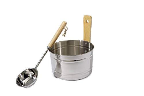 Sauna accessoireset roestvrij staal opgieter en pollepel opgieter emmer 4 liter