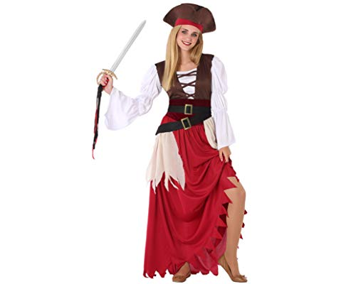 Atosa-61622 Atosa-61622 kostuum meisjes piraten, dames, 61622, rood, jongeren
