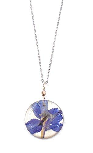 """""""Larkspur"""" Floral Pendant Necklace by Shari Dixon"""