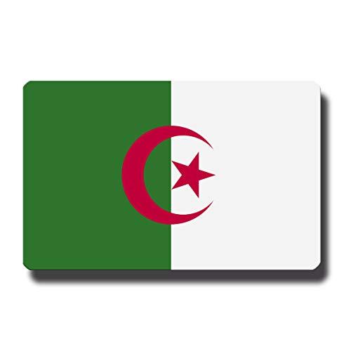 Kühlschrankmagnet Flagge Algerien - 85x55 mm - Metall Magnet mit Motiv Länderflagge