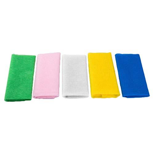 Heallily Lot de 5 Serviettes de Bain en Nylon Doux exfoliant pour Accessoires de Douche