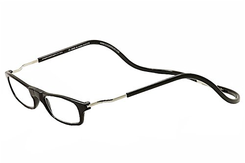 CliC XXL Adjustable Front Magnetic Connect Expandable Reading Glasses; Black +2.00