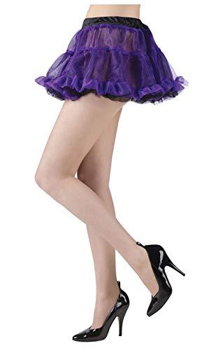 Horror-Shop Pettiskirt noir/violet