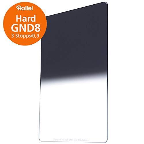 Rollei F:X Pro Verlaufsfilter Hard GND 8 I 100mm Rechteckfilter aus Gorilla-Glas mit Luminance Coating I Ideal für Motive mit klarer Horizontlinie
