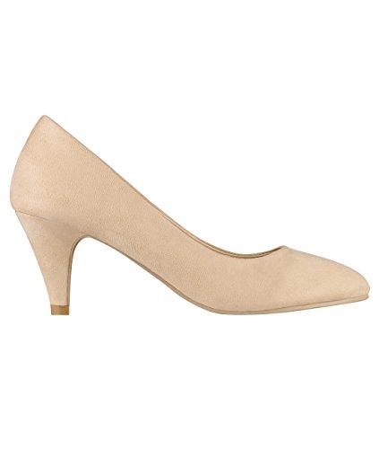 KRISP Zapatos Mujer Tacón Salón Elegantes Fiesta Boda