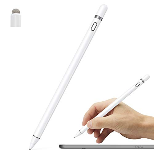 Active Stylus Pen Compatible for iOS&Android Touch Screens, Pencil for iPad with Dual Touch Function,Rechargeable Stylus for iPad/iPad Pro/Air/Mini/iPhone/Cellphone/Samsung/Tablet Drawing&Writing
