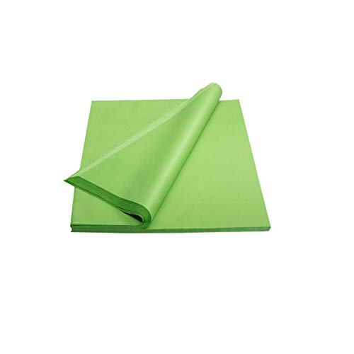 Crown 480 Sheets Bulk Pack Lime Green Tissue Paper Gift Wrap - Ream of Paper - 15 inch. x 20 inch. Wrapping Tissue Paper - for Scrapbooking Paper, Art n Crafts, Wrapping Christmas Gifts and More!!
