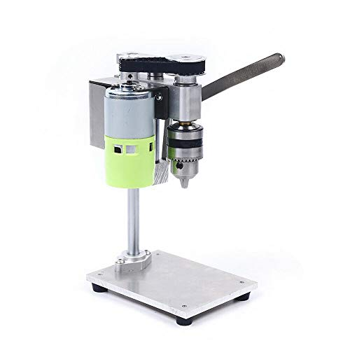 Mini Electric Bench Drill, Portable Drill Press Table Floor Drill Press Stand Table For Drill Drilling Machine Workbench Repair Tool Table Top Drill 1:2 Speed Change