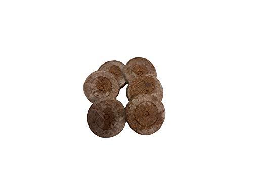 Lasama 40 Stück Jiffy-7 Torfquelltöpfe Ø 42/44 x H 42 mm, Aussaaterde Anzuchterde Torftablette