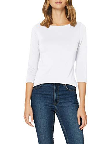 Vero Moda VMPANDA Modal 3/4 Top Noos Camiseta sin Mangas, Blanco Brillante, XS para Mujer